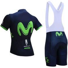 2018 Team Movistar Pro Cycling Kits Dark Blue Green | Freestylecycling.com