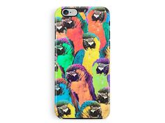 Parrot Phone Case, Protective iPhone 6 case, Protective Phone case, iPhone 5s protective case, Cute Bumper Phone Cases, Wildlife Lover Gifts