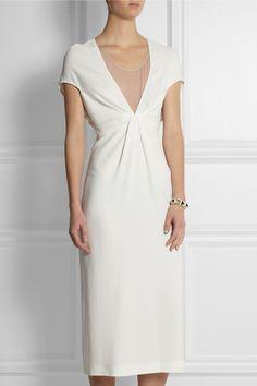 Vionnet|Stretch-crepe and silk-georgette dress|NET-A-PORTER.COM