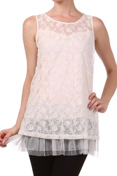 Rosy Whisper Lace Babydoll Blouse  $31.99