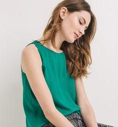 Top évasé Femme vert - Promod