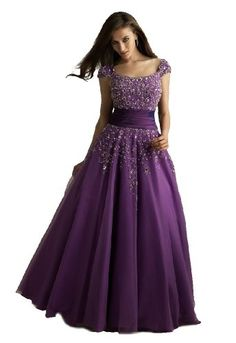 Modest Ball Gown Prom Dress
