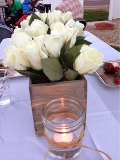 Rustic table center pieces
