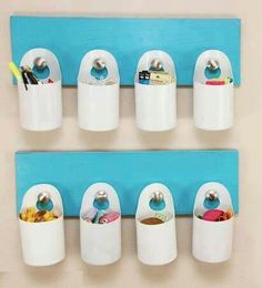 Great organizer for buttons and stuff in sewing room...Reuse from shampoo bottles?? No Link