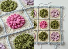 CreJJtion has been on a crochet flower square making craze. Beautiful work!