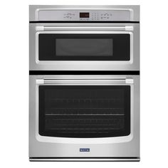 Shop Maytag Self-Cleaning Microwave Wall Oven Combo (Stainless Steel) (Common: 30 -in; Actual: 30-in) at Lowes.com