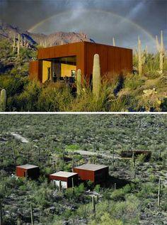 small-desert-house-nomad Desert Nomad, Desert Dream, Desert Houses, Mother Art, Micro House, Unusual Homes, Small Buildings, Little Houses, Shelters
