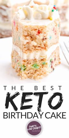 Keto Birthday Cake proves that deliciousness and dessert-ing can be low carb. Ha… Keto Birthday Cake proves that deliciousness and dessert-ing can be low carb. Have no fear, you can have your low carb cake and eat it too. Keto Cake, Keto Cupcakes, Keto Cheesecake, Keto Cookies, Keto Desserts, Keto Friendly Desserts, Mini Desserts, Dessert Recipes, Keto Snacks