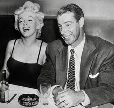 Marilyn Monroe and Joe DiMaggio.  A George Vreeland Hill Pinterest post.