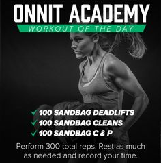 Workout Details This is the Onnit Academy Workout of the Day for Monday November It is a sandbag workout consisting of 300 total reps of sandbag training. This is of a series of daily workouts, showing … Gym Workouts, At Home Workouts, Daily Workouts, Crossfit Wods, Sandbag Workout, Wod Workout, Bikini Competition Training, Workout Plan For Men, Workout Posters