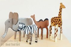 Easy Cardboard Animal Toys - Red Ted Art - Make crafting with kids easy & fun