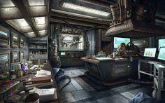 sci fi room concept art - Szukaj w Google