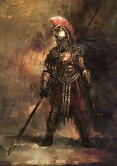 War Hero - AC Odyssey Fan art Assassin's Creed Odyssey fan art , I have used War Hero armor set as an reference. Sparta Warrior, Greek Warrior, Roman Warriors, Love Warriors, Fantasy Armor, Medieval Fantasy, Fantasy Art Warrior, Gods Of War, Spartan Tattoo