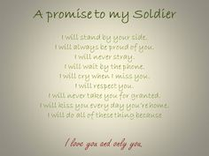 A promise to my Soldier