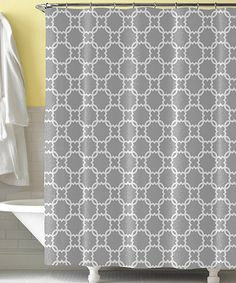 Take a look at this Gray & White Mod Shower Curtain by Tickled Pink NOLA on #zulily today!