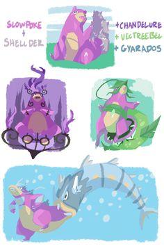 honeysaber:  slowpoke evolutions