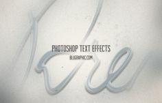 Collection of Unusual Photoshop Text Effects