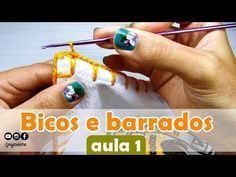 Bicos de crochê simples, fácil e rápido para iniciantes | AULA 1 - JNY Crochê - YouTube
