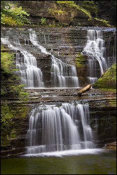Buttermilk Falls, just outside of Ithaca, New York