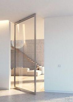 New House Modern Glass Architecture Sliding Doors Ideas Sliding Door Design, Sliding Closet Doors, Pivot Doors, Entry Doors, Barn Doors, Aluminium Doors, Modern Door, Interior Exterior, Interior Doors