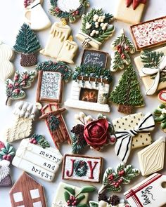 Christmas Goodies, Christmas Candy, Christmas Treats, Christmas Baking, Merry Christmas, Christmas Tree Cookies, Xmas Cookies, Iced Cookies, Fancy Cookies