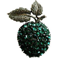 TRIFARI movable Apple pin Brooch