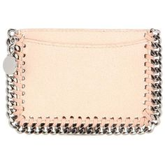 Stella McCartney Falabella Card Holder ($235) ❤ liked on Polyvore featuring bags, wallets, pink, wallets & cases, stella mccartney, card holder wallet, card carrier wallet, stella mccartney bag and pink bag