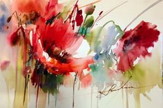 Website about watercolor painter Fabio Cembranelli with a virtual gallery , his painting workshops, art courses, painting holidays and artist biography and contact. Watercolor Poppies, Easy Watercolor, Abstract Watercolor, Watercolor Paintings, Watercolours, Acrylic Flowers, Oil Painting Flowers, Abstract Flowers, Mothers Day Drawings