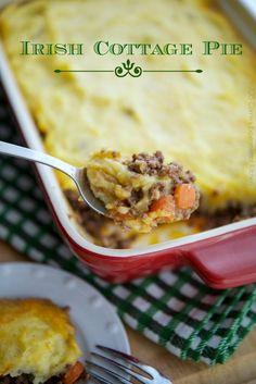 Irish Cottage Pie | Carrie's Experimental Kitchen #beef #stpatricksday #glutenfree