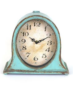 Look at this #zulilyfind! Aqua Mantel Clock #zulilyfinds