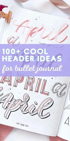 Bullet Journal Contents, Bullet Journal Headers, Bullet Journal Font, Journal Fonts, Bullet Journal Hacks, Bullet Journal Printables, Bullet Journal How To Start A, Bullet Journals, Calendar Journal