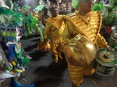 These guys are part of the Mocidade Bateria, the drum battery that forms part of each Samba school in the parade.