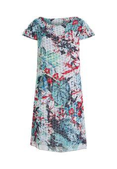 Für Abendveranstaltungen jeglicher Art, bei denen legerer Chic erwünscht ist, ist dieses Kleid wie gemacht. Die gerade Passform ist komfortabel, der florale Mustermix ein wahrer Hingucker.