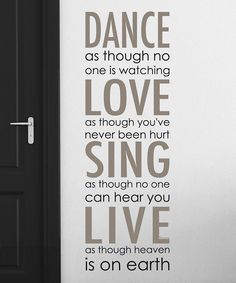 Look what I found on #zulily! 'Dance Love Sing Live' Wall Decal Set by WallPops! #zulilyfinds