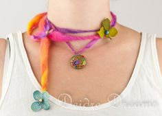 - SOLD - Hippie Boho Gypsy Chic Statement Tropical Flowers by DeidreDreams, $55.00