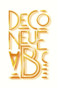 Free Font Of The Day : Deco Neue