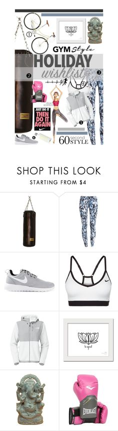 """""""The sporty list"""" by lseed87 ❤ liked on Polyvore featuring ZENTS, NIKE, The North Face, Everlast, SIGG, yogapants, christmaslist, 60secondstyle, Christmas2015 and 2015wishlist"""