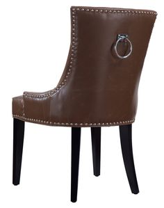 TOV Furniture Uptown Antique Brown Leather Dining Chair