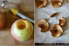 homemade apple chips in the oven Dried Apple Chips, Cinnamon Apple Chips, Dried Apples, Real Food Recipes, Snack Recipes, Snacks, Healthy Recipes, Yummy Recipes, Diet Recipes