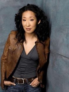 Sandra Oh. Beautiful, strong, funny as hell, and an amazing actress. God, I love her!