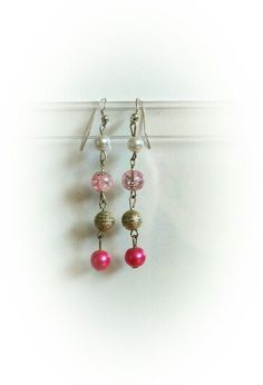 Pretty pink earrings