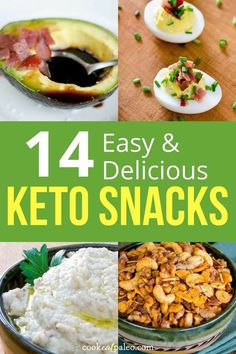 Looking for keto-friendly foods to fight a snack attack? We've got you covered with these 14 easy and delicious keto snack recipes. These recipes are simple, fast and will give you plenty of keto snack ideas to enjoy and share. Best Gluten Free Recipes, Gluten Free Snacks, Keto Snacks, Low Carb Recipes, Healthy Snacks, Banting Recipes, Healthy Recipes, Low Carb Appetizers, Best Appetizers