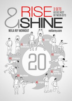 Health and fitness . Rise And Shine Workout beauty fitness Neila Rey Workout, Gym Workout Tips, At Home Workouts, Workout Challenge, Easy Daily Workouts, Song Workouts, Cheer Workouts, Monday Workout, Workout Music