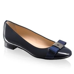 Russell & Bromley blue dress flats. Have this in open toe version.