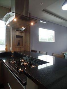 Resultado de imagem para posso unir madeira com mármore ? Open Plan Kitchen Living Room, Kitchen Room Design, Home Room Design, Modern Kitchen Design, Home Decor Kitchen, Kitchen Interior, Kitchen Cooker, Diy Kitchen Storage, Cool Kitchen Gadgets