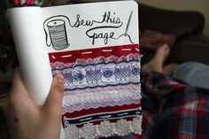 Wreck This Journal - Sew this page.