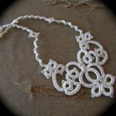Tatted Lace Necklace  The Bride's Garden by TotusMel on Etsy, $25.00