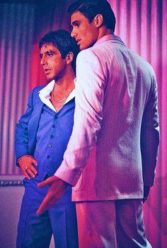"Al Pacino & Steven Bauer in ""Scarface""1983 by Brian De Palma"