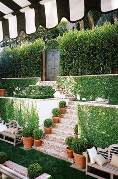 Mark D. Sikes garden courtyard via @thouswellblog