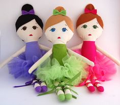Custom Ballerina Doll Handmade with Tutu -  My Gigi Doll. $65.00, via Etsy.